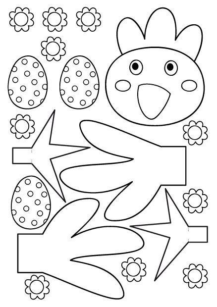 Bricolages De Paques - Page 4 tout Masque De Poule À Imprimer