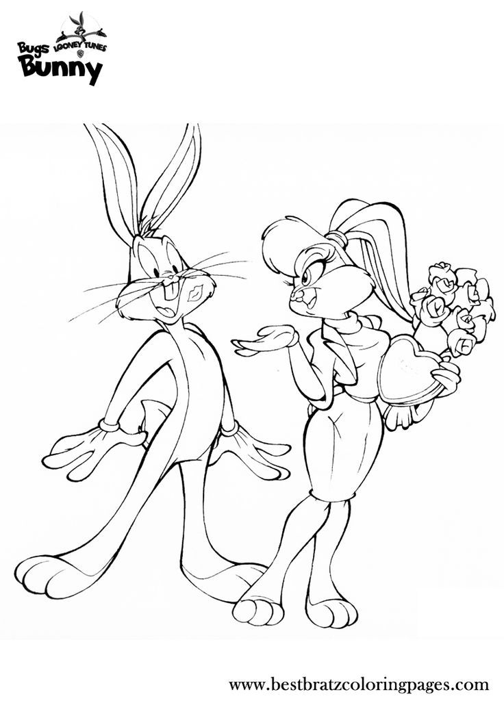 Bugs Bunny Coloring Pages | Bunny Coloring Pages, Bunny tout Coloriage Lola