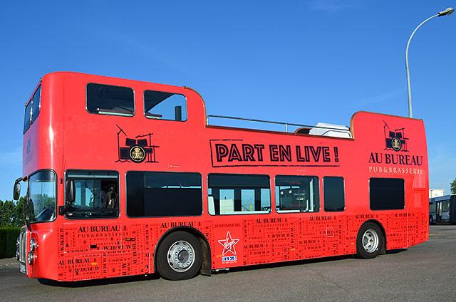 Bus Anglais Decouvrable De Podiocom - Véhicule : Road Show avec Image Bus Anglais