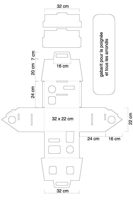 Cabane En Carton Patron - Jardin Piscine Et Cabane encequiconcerne Patron+Maison+Papier+A+Imprimer