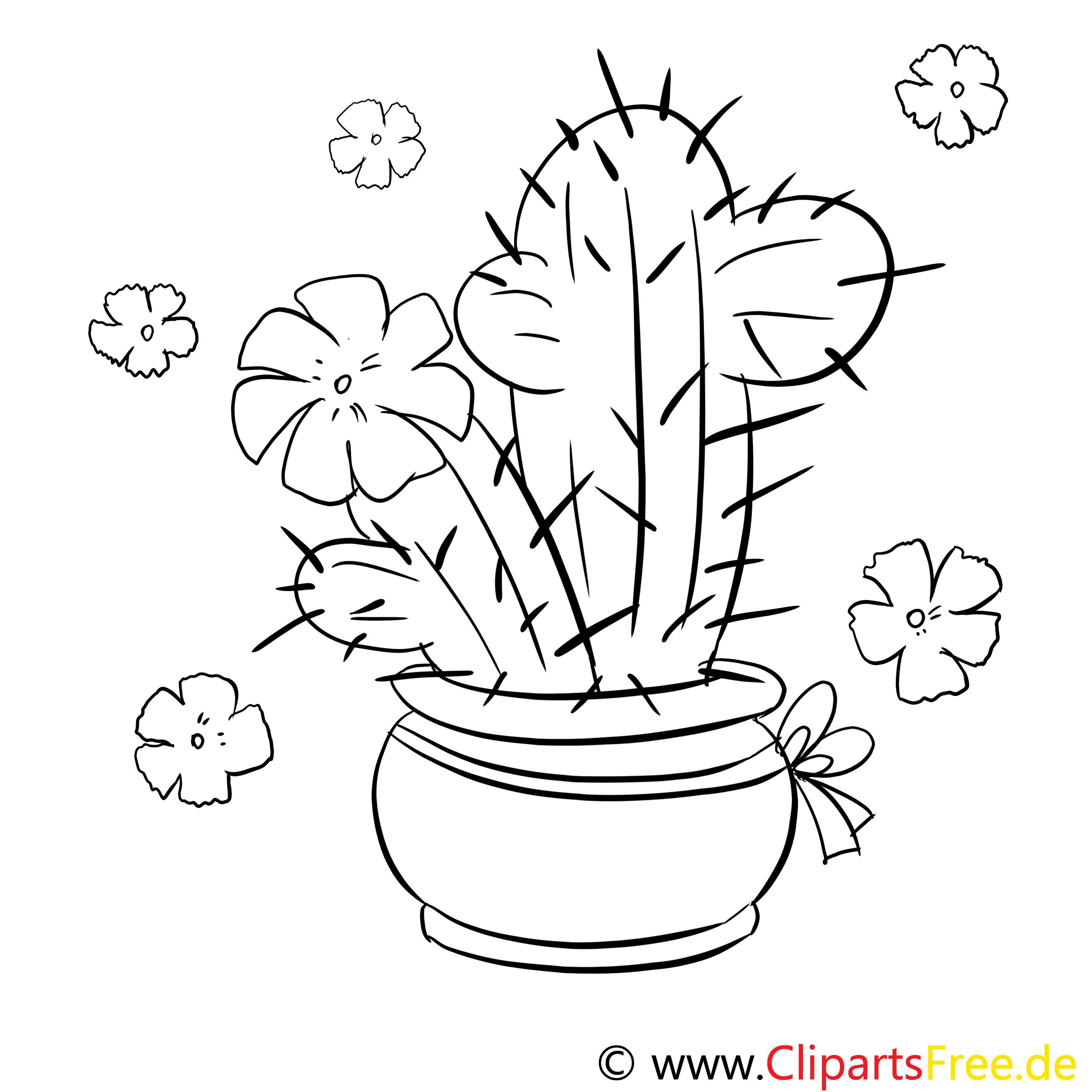 Cactus Image À Télécharger – Divers À Colorier serapportantà Coloriage Cactus A Imprimer