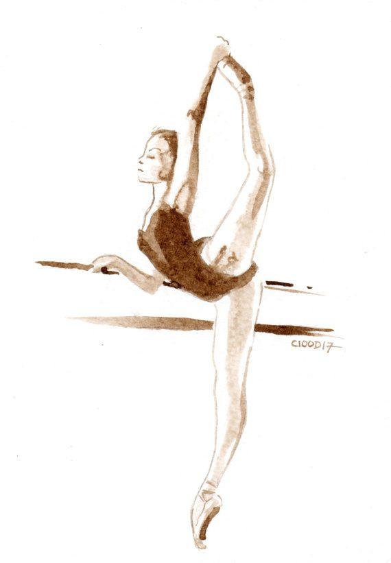 Cadeau Original Danse Pas Cher > Danseuse Classique Barre tout Dessin Danseuse Classique