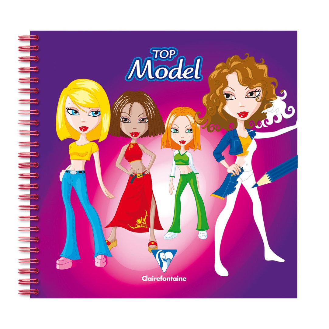 Cahier De Dessin Creativ Model Top Model Clairefontaine tout Coloriage Top Model À Imprimer