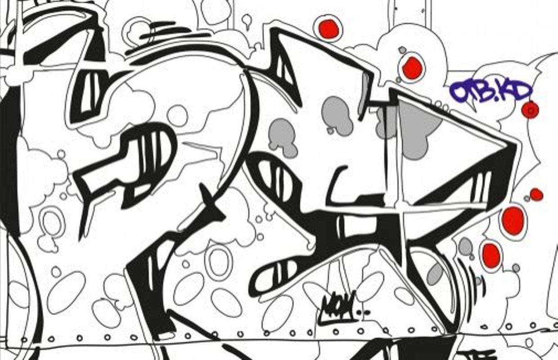 Cahiers De Vacances Pour Adultes, Livres De Coloriage : La dedans Coloriage Tag Graffiti