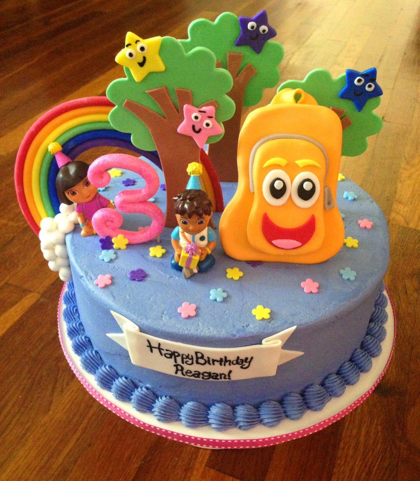 Cakes By Becky: Dora & Diego Birthday Cake | Dora Birthday dedans Gateau Dora