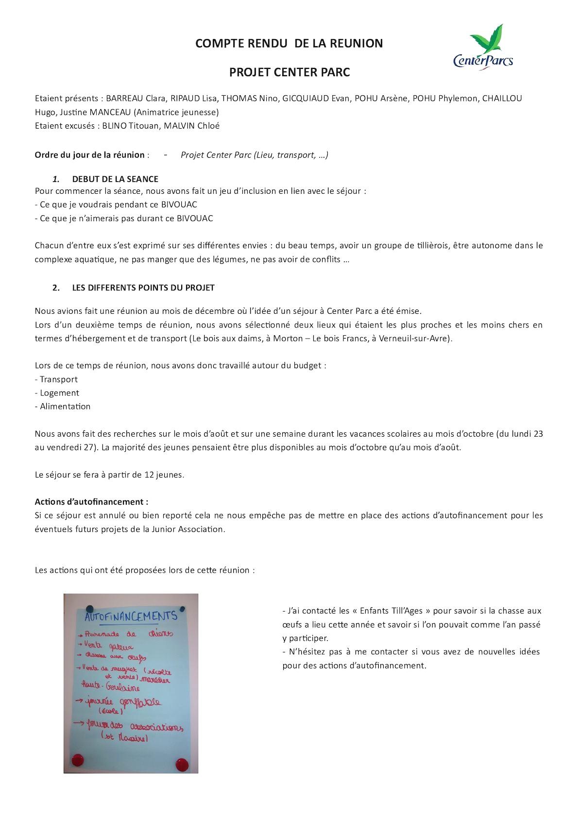 Calam O Compte Rendu R Union 8 Mars Avec P1 Et Je N destiné Calam?O