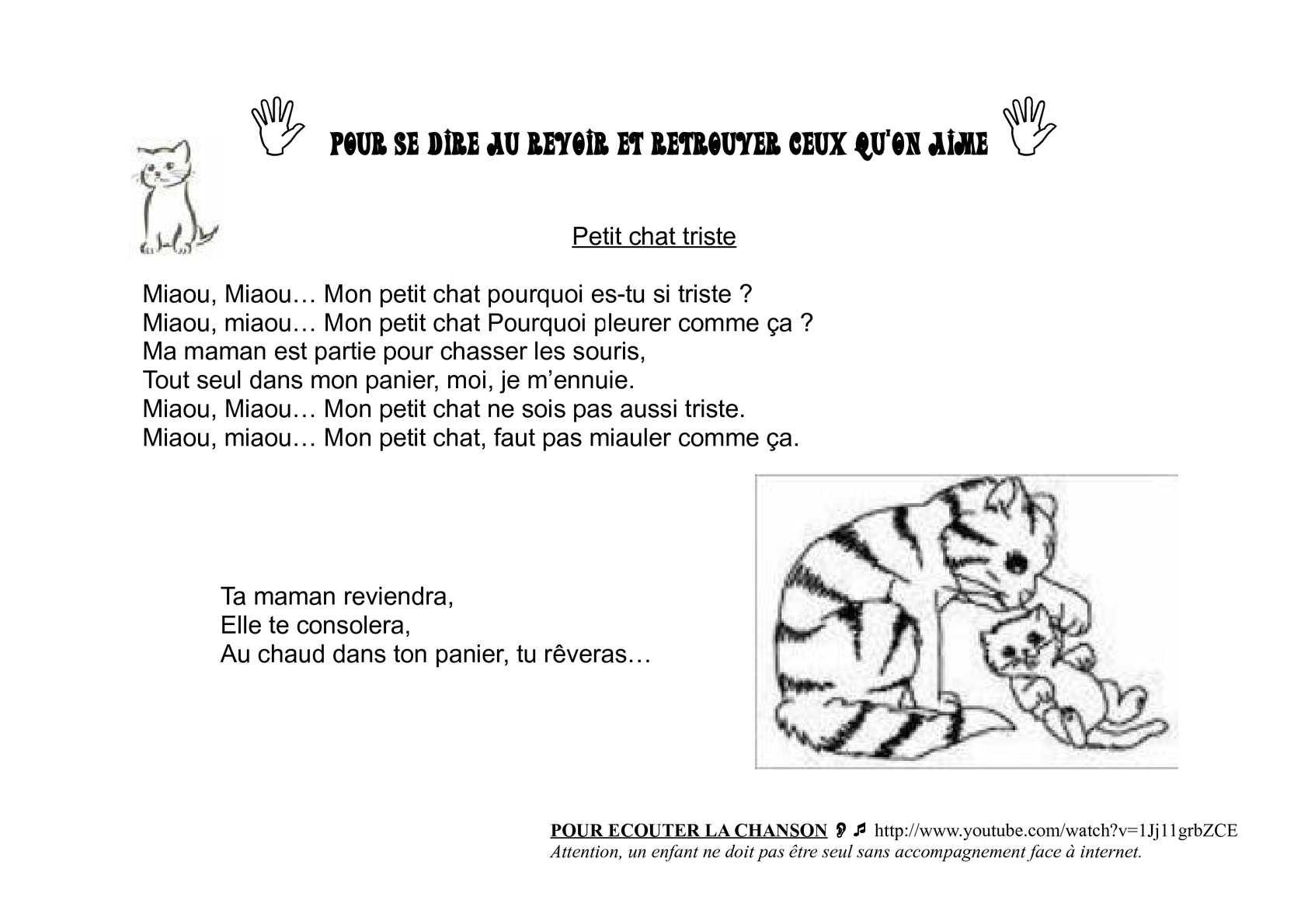 Calaméo - Petit Chat Triste à Parole Chanson 3 Petit Chat