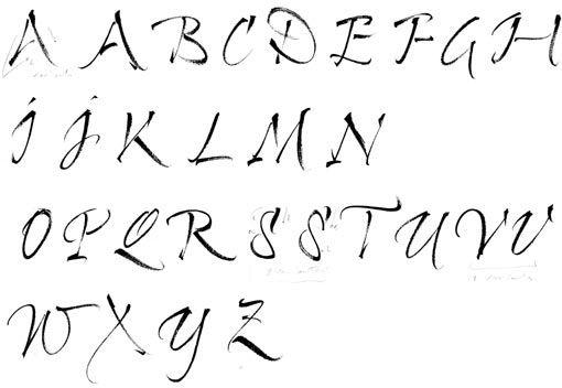 Calligraphie, Pinceau, Alphabets, Lettres, Stages Et Cours avec Lettre Majuscule Tag