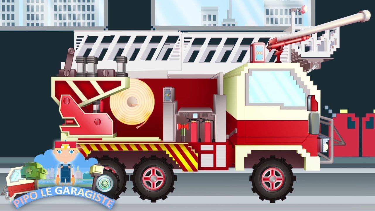 Camion De Pompier: Pipo Et Sa Dépanneuse | Dessin Animé En tout Dessin Animé Camion Grue