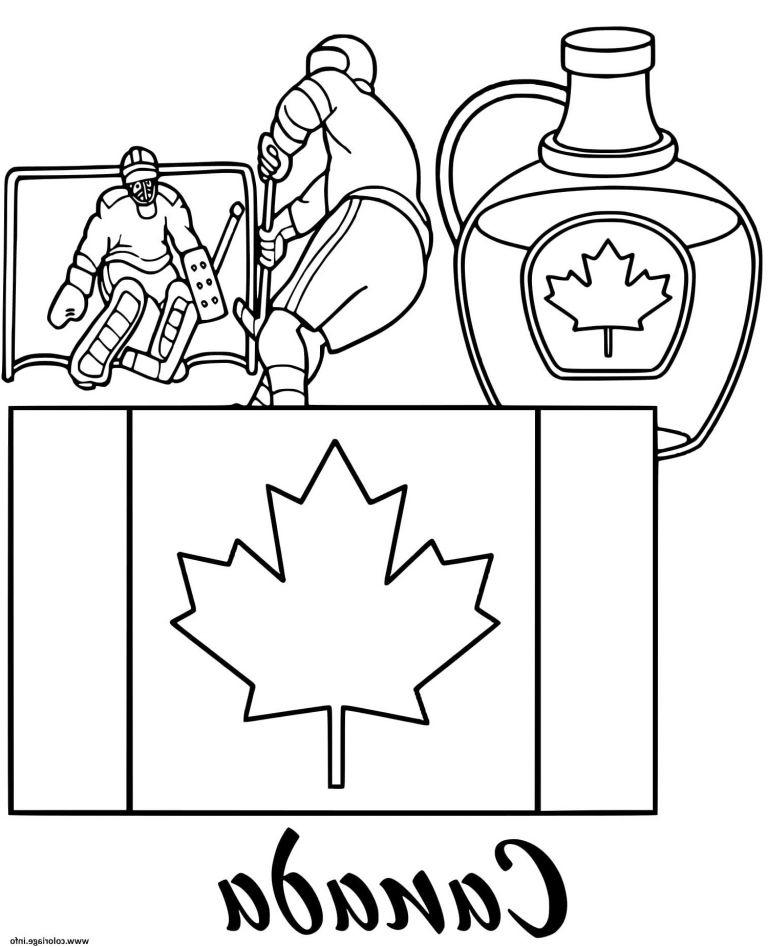 Canada Dessin Bestof Images Coloriage Canada Drapeau Maple intérieur Drapeau Du Canada A Colorier