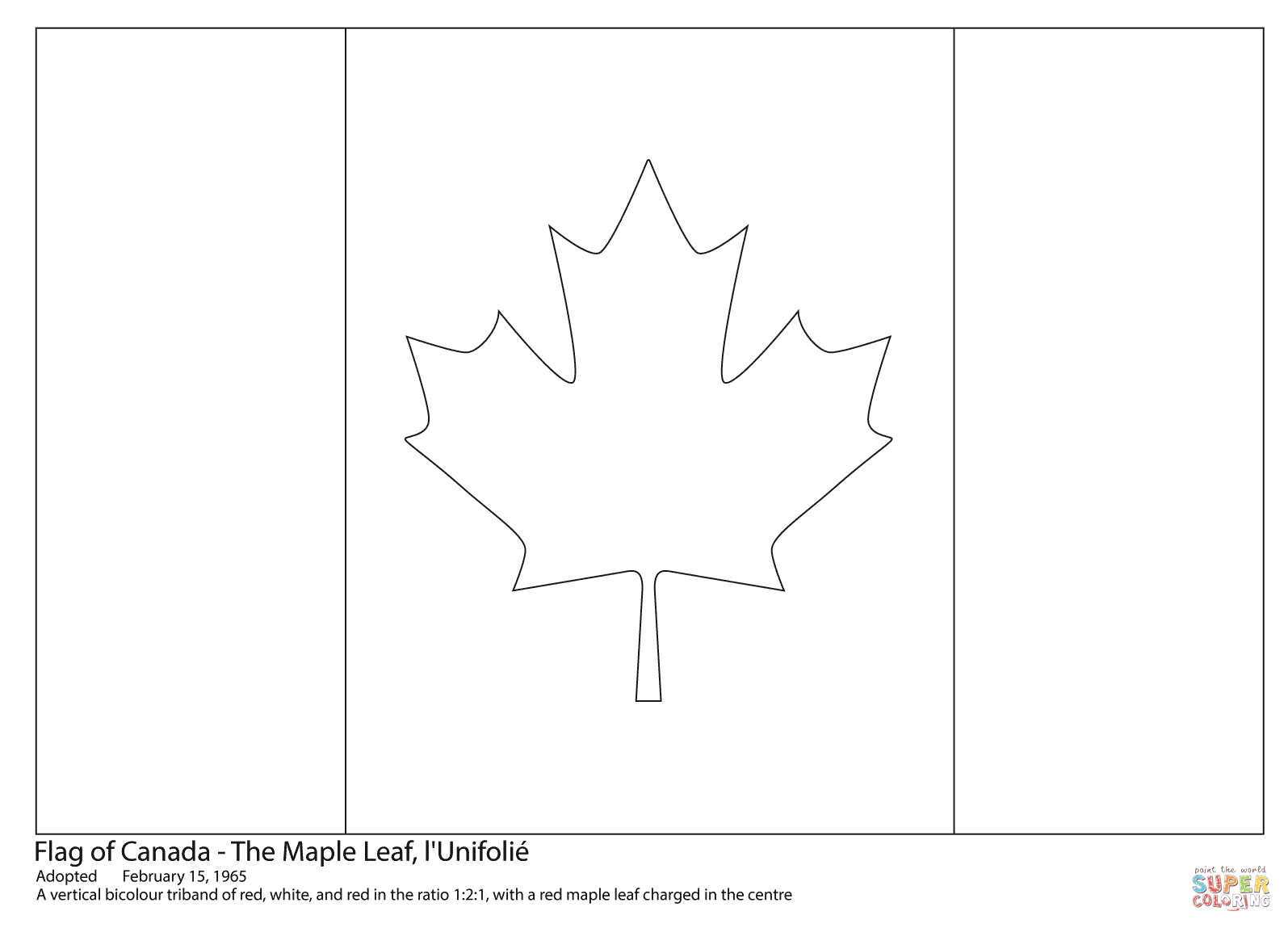 Canadian Flag Coloring Page | Free Printable Coloring Pages encequiconcerne Drapeau Du Canada A Colorier