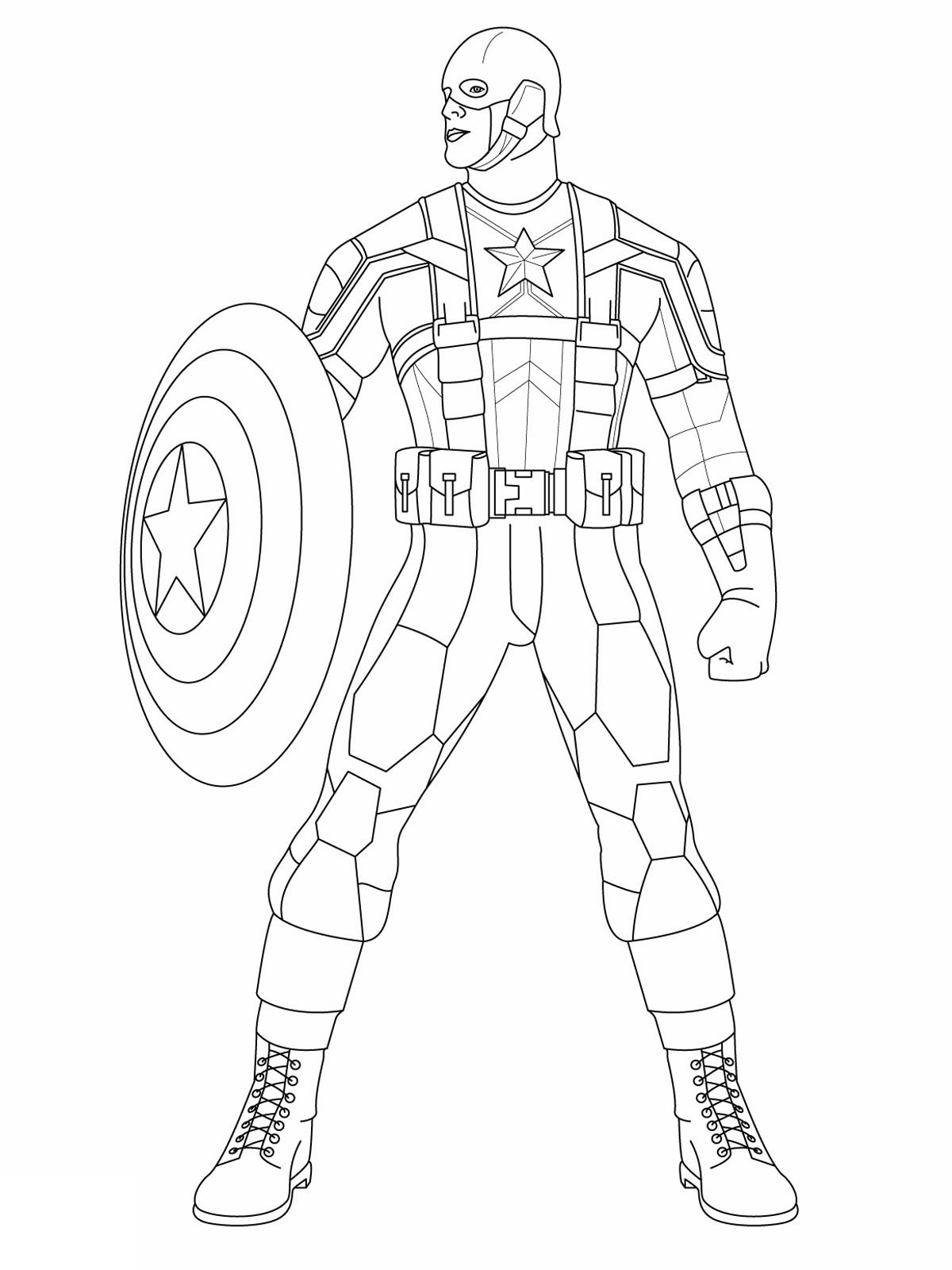 Captain America - Captain America Kids Coloring Pages serapportantà Coloriage Captain America