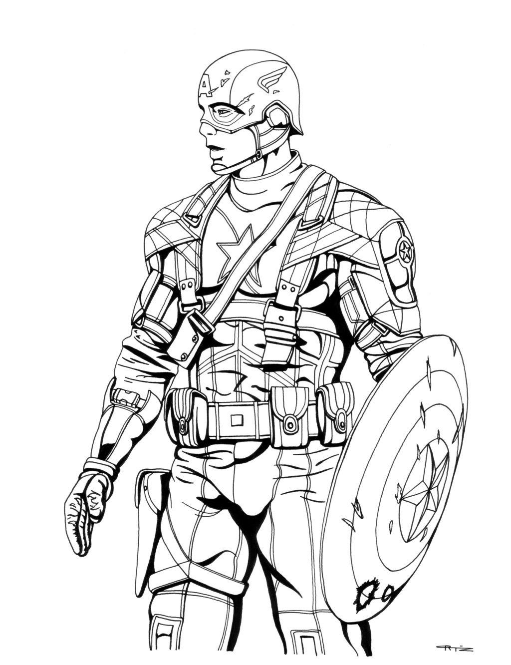 Captain America The First Avenger Coloring Pages Gallery destiné Coloriage Captain America