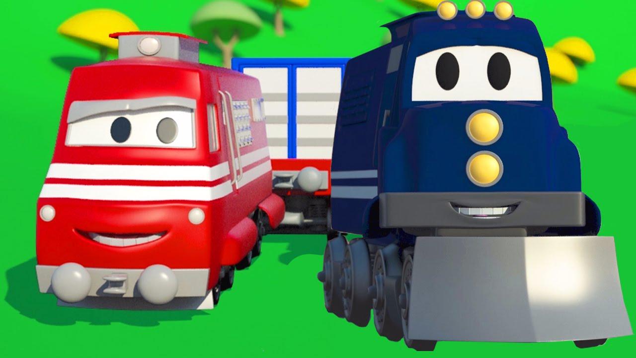 Carl Le Camion Transformer Et Le Train À Car City | Dessin dedans Dessin Animé Train Thomas