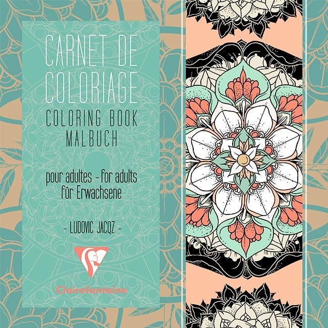 Carnet Art Thérapie 36P De Coloriage Pour Adultes Plantes dedans Carnet De Coloriage Adulte