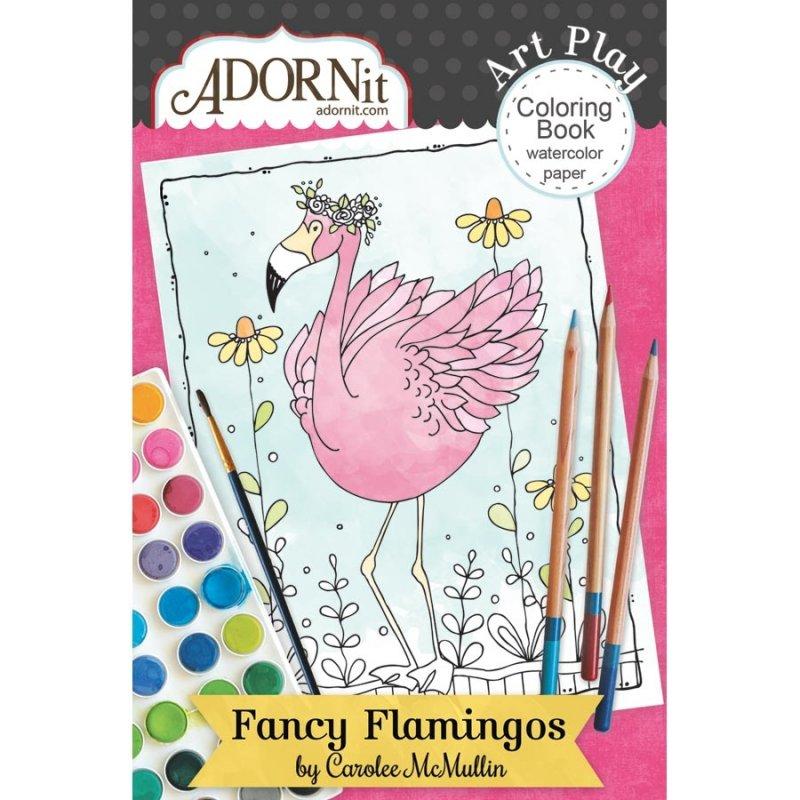 Carnet De Coloriage 10Cmx15Cm ' Adornit - Fancy Flamingo tout Carnet De Coloriage