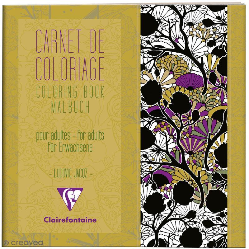 Carnet De Coloriage Art Nouveau Pour Adultes - 20 X 20 Cm serapportantà Carnet Coloriage Adulte
