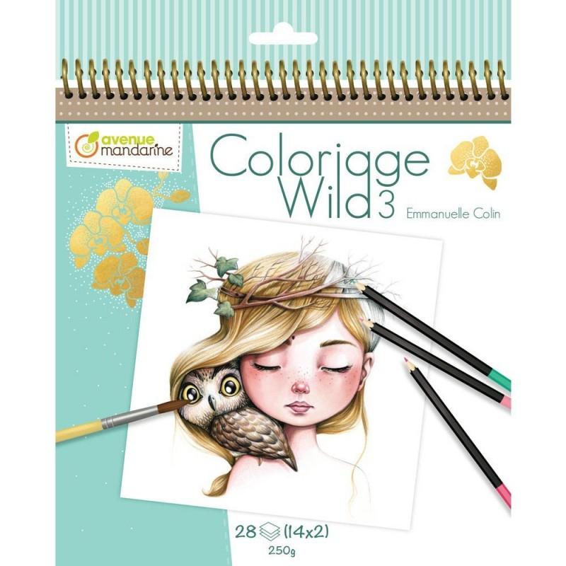 Carnet De Coloriage : Wild 3 intérieur Carnet De Coloriage