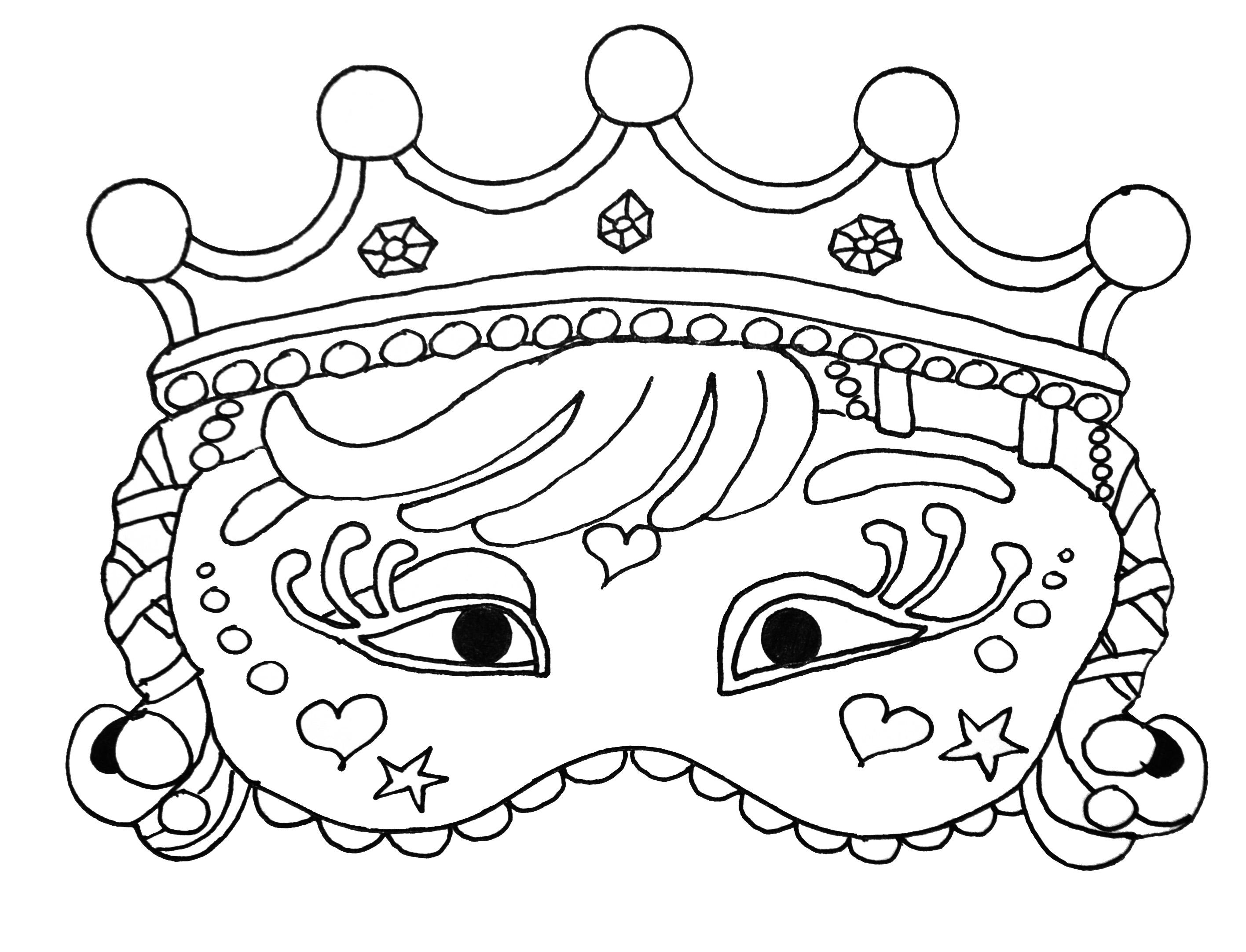Carnival Mask For Kid 3 - Masks Coloring Pages For Kids To intérieur Dessin Carnaval A Imprimer