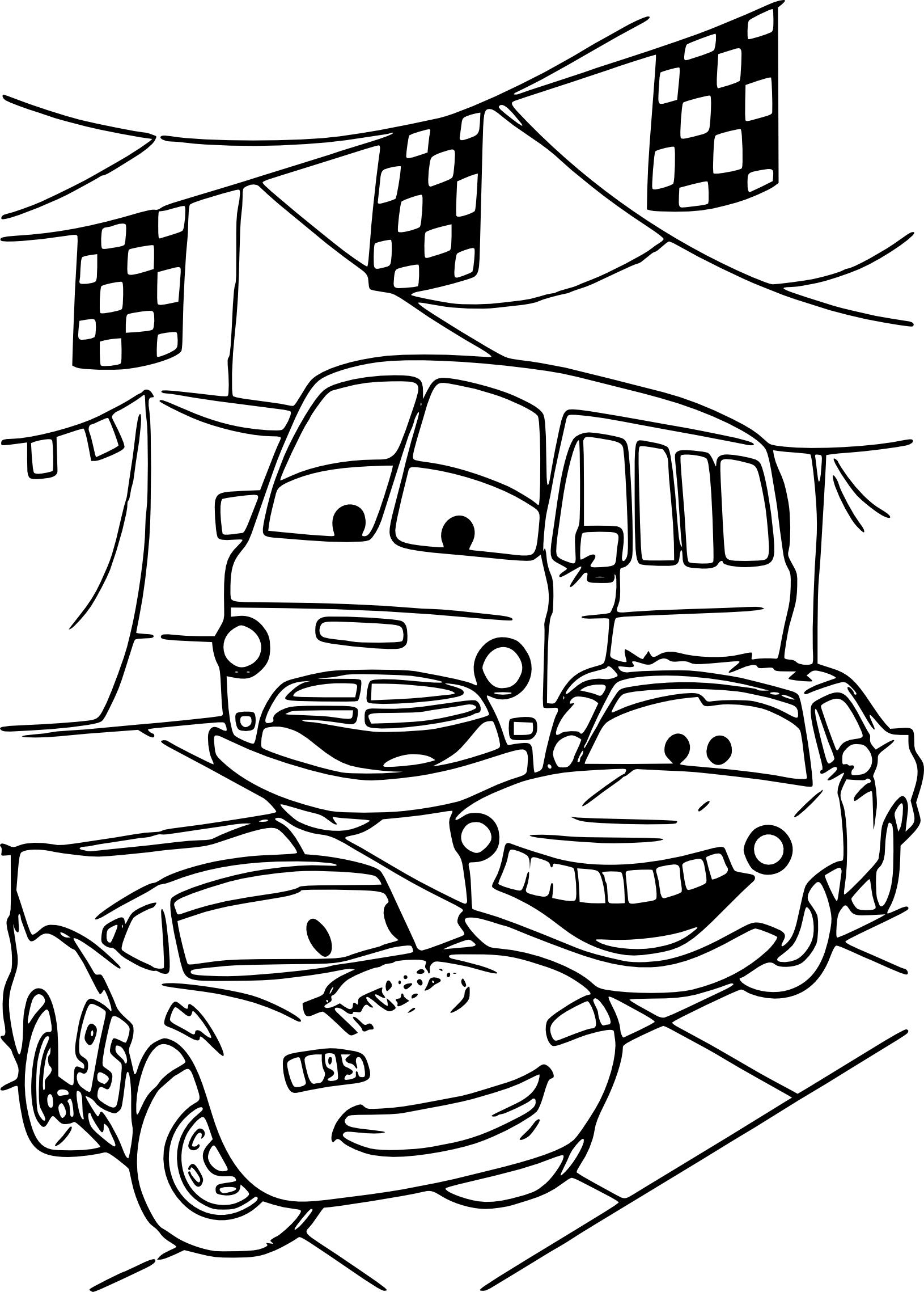 Cars : Coloriage Disney Cars À Imprimer pour Coloriage Imprimer