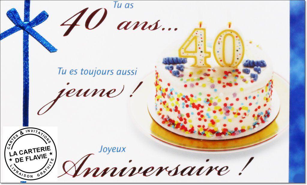 Carte Anniversaire Invitation intérieur Dessin Gateau Anniversaire 40 Ans