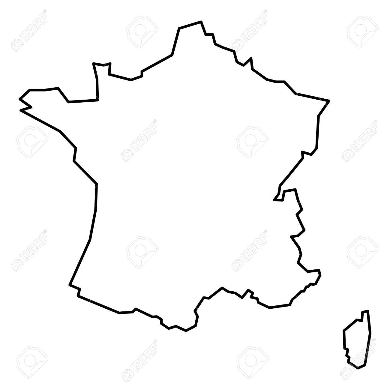 Carte De France En Noir Et Blanc - Altoservices serapportantà Dessin Carte De France