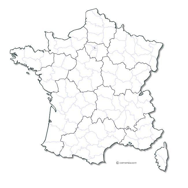 Carte De France Vectorielle | Carte Vierge, Carte De à Dessin Carte De France