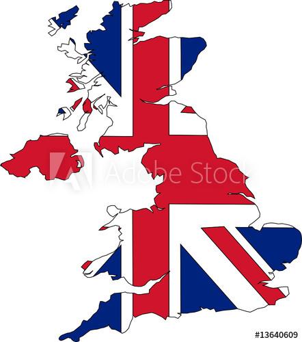 """""""Carte De L'Angleterre Avec Un Drapeau"""" Fichier Vectoriel avec Drapeau De L Angleterre À Colorier"""