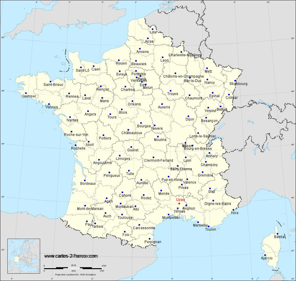 Une Carte De France - GreatestColoringBook.com