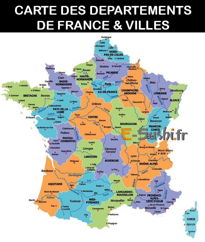 Carte Departement Francais Avec Villes - Altoservices encequiconcerne Num?Rotation Des D?Partements