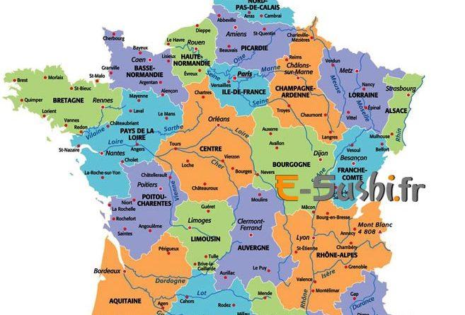 Carte Departement Francais Avec Villes - Altoservices intérieur Num?Rotation Des D?Partements