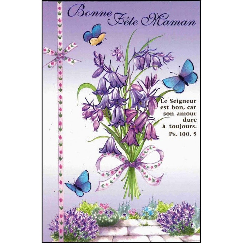Carte Double Bonne Fête Maman - Fleurs - Ps 100.5 concernant Bonne Fete Des Pairs Figure