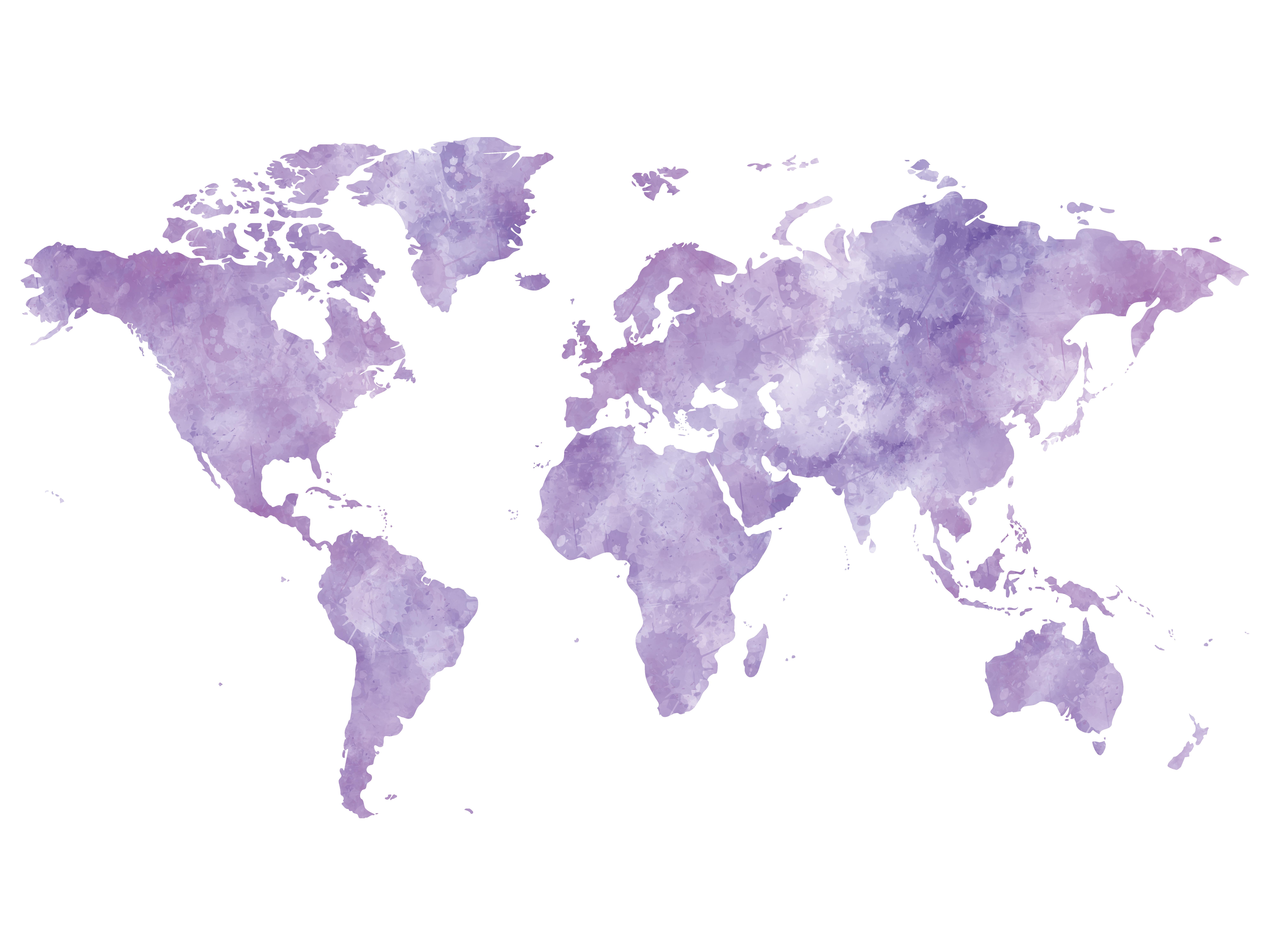Carte Du Monde À Imprimer Violette / Myposter à Mappemonde ? Imprimer