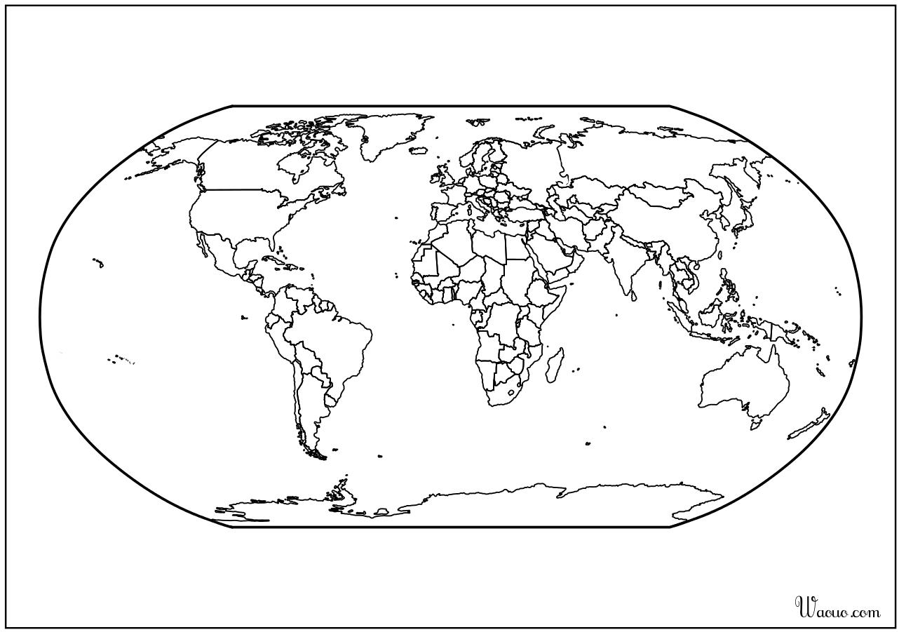 Carte Du Monde Atlas Vierge À Imprimer encequiconcerne Mappemonde ? Imprimer