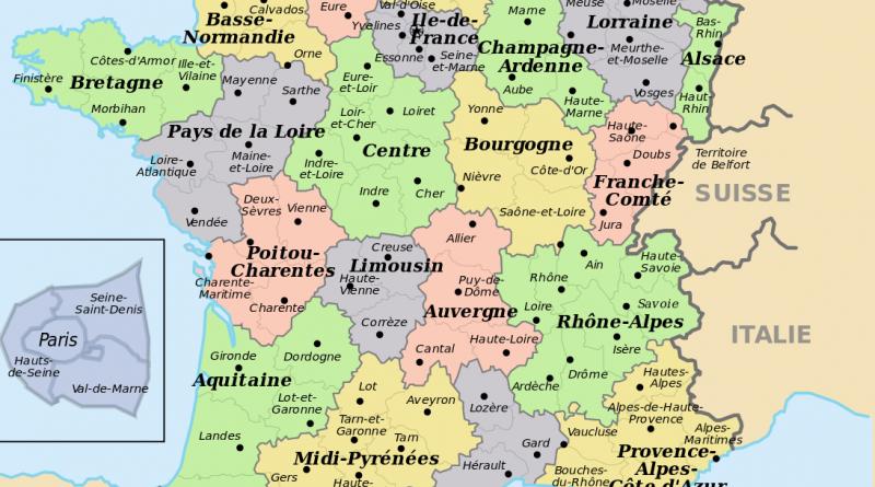 Carte France Avec Departement - Altoservices destiné Num?Rotation Des D?Partements