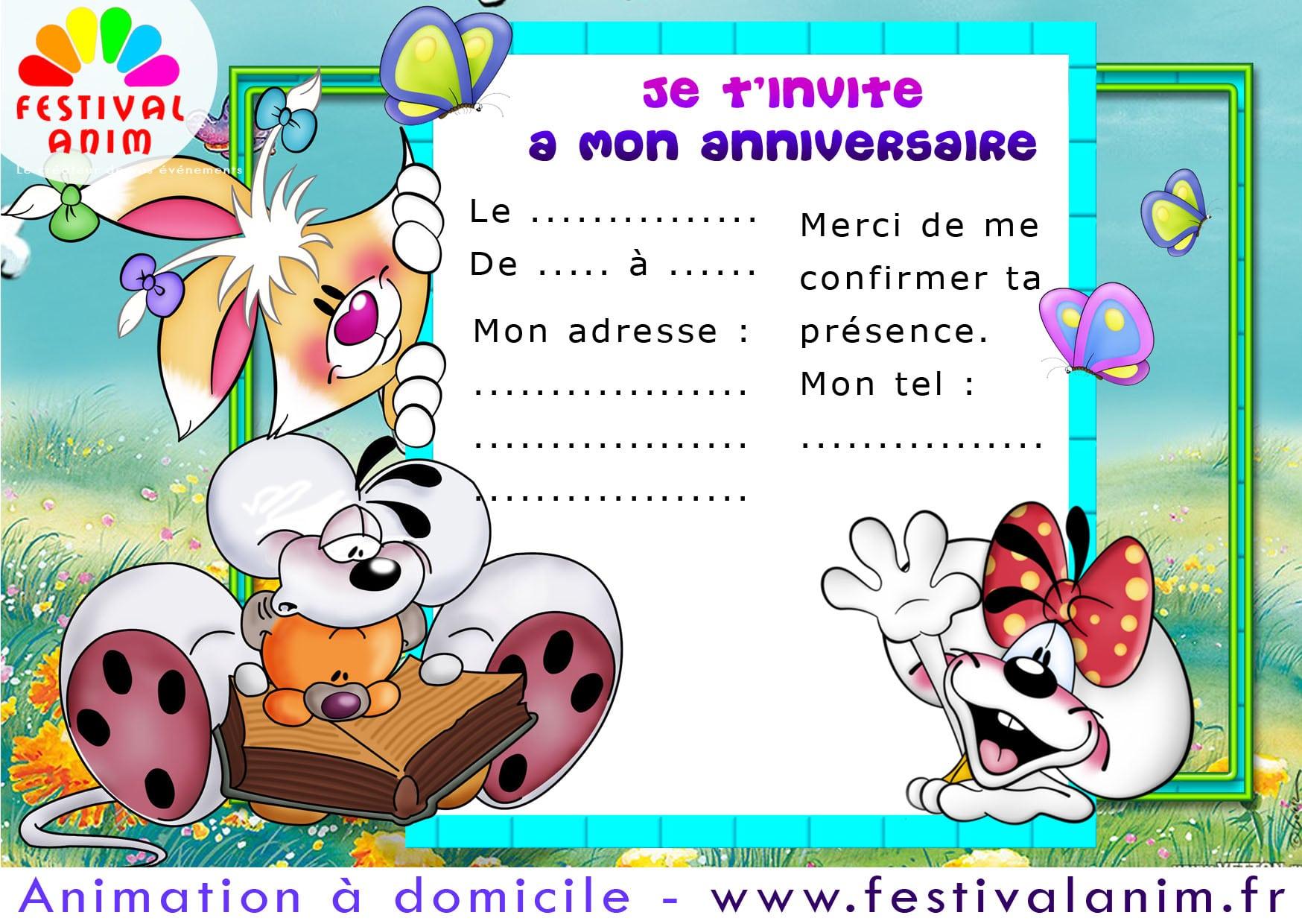 Carte Invitation Anniversaire Gratuite intérieur Image Anniversaire A Imprimer