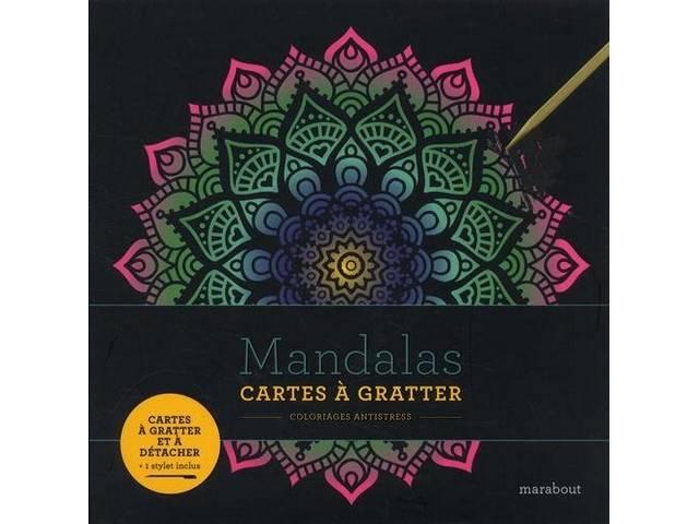 Cartes À Gratter Coloriages Antistress Mandalas tout Coloriage À Gratter