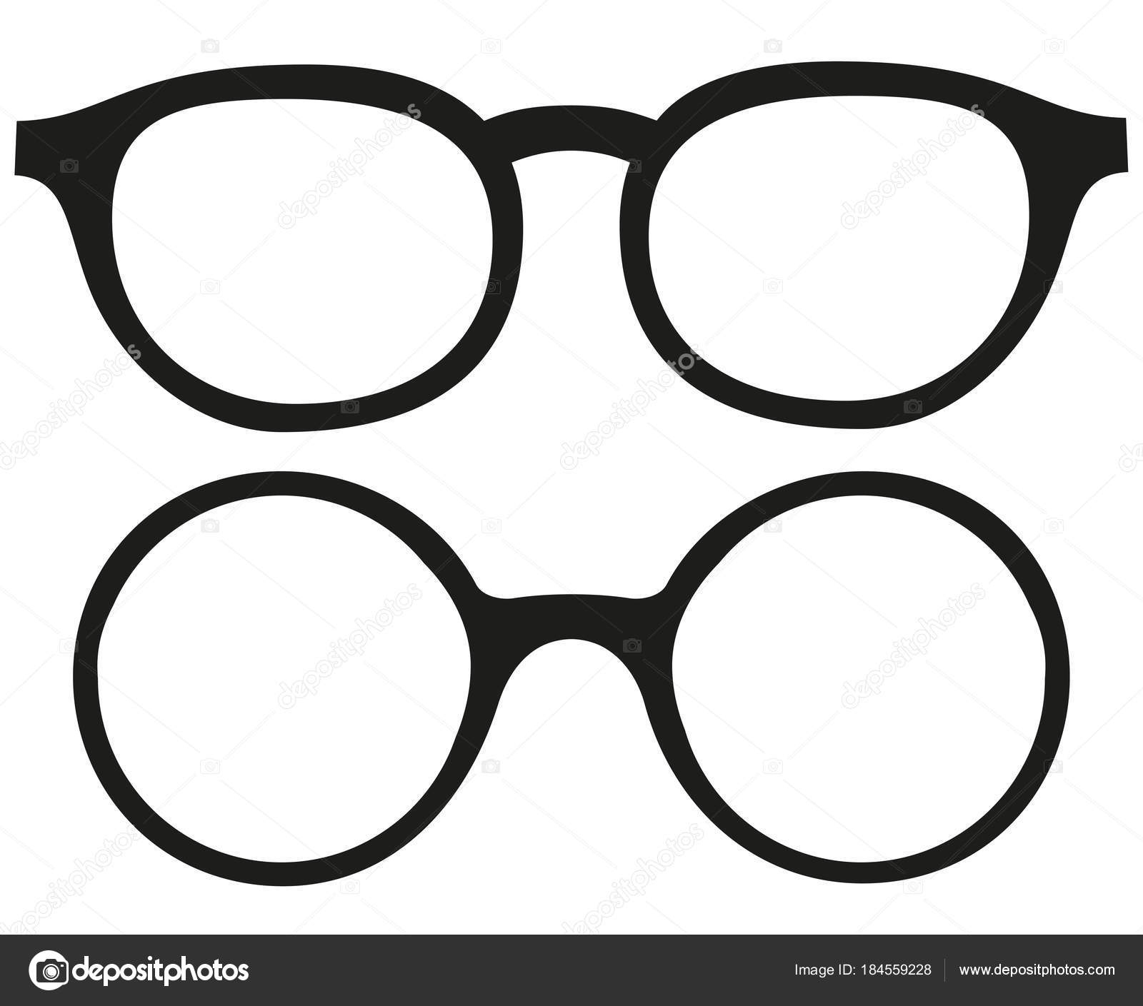 Cartoon Icona Poster Occhiali, Occhiali Silhouette Set tout Lunette Dessin