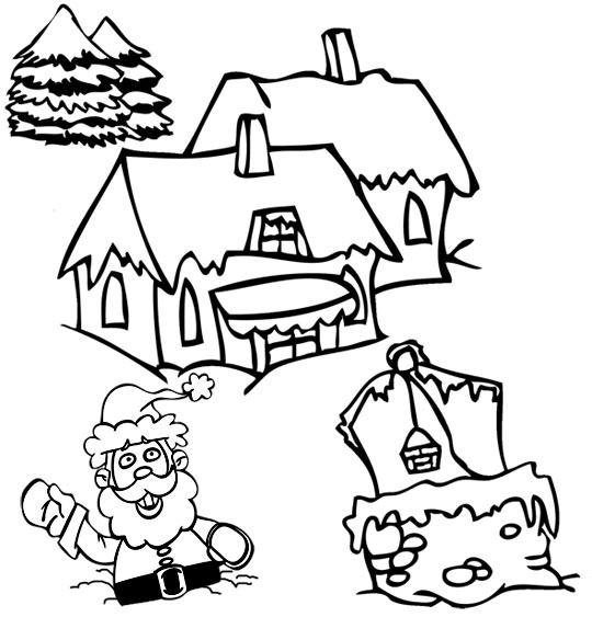 Catégorie Chanson De Noël Jingle Bells Des Coloriages Et tout Village De Noel Dessin