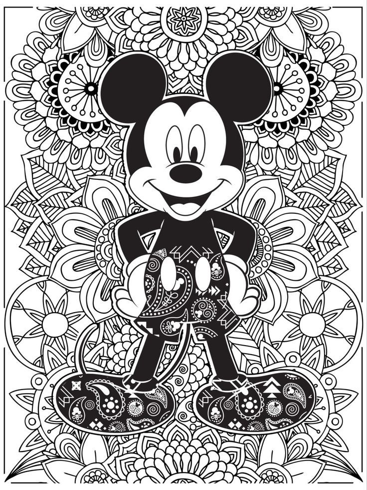 Celebrate National Coloring Book Day With | Mickey Mouse dedans Coloriag