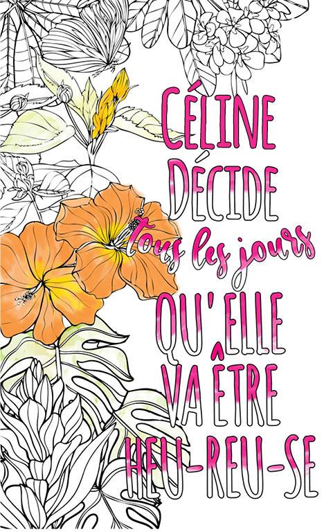 Céline Est Formidable. Le Livre Personnalisé De Coloriage encequiconcerne Livre Coloriage Personnalisé