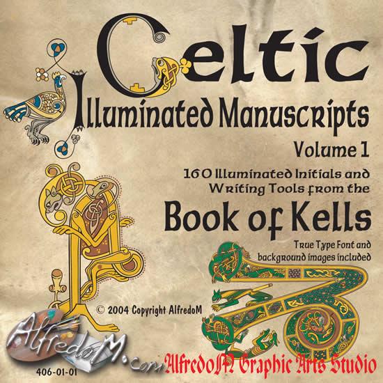 Celtic Manuscripts: The Book Of Kells - Initials, Celtic à Script In The Book Of Kells