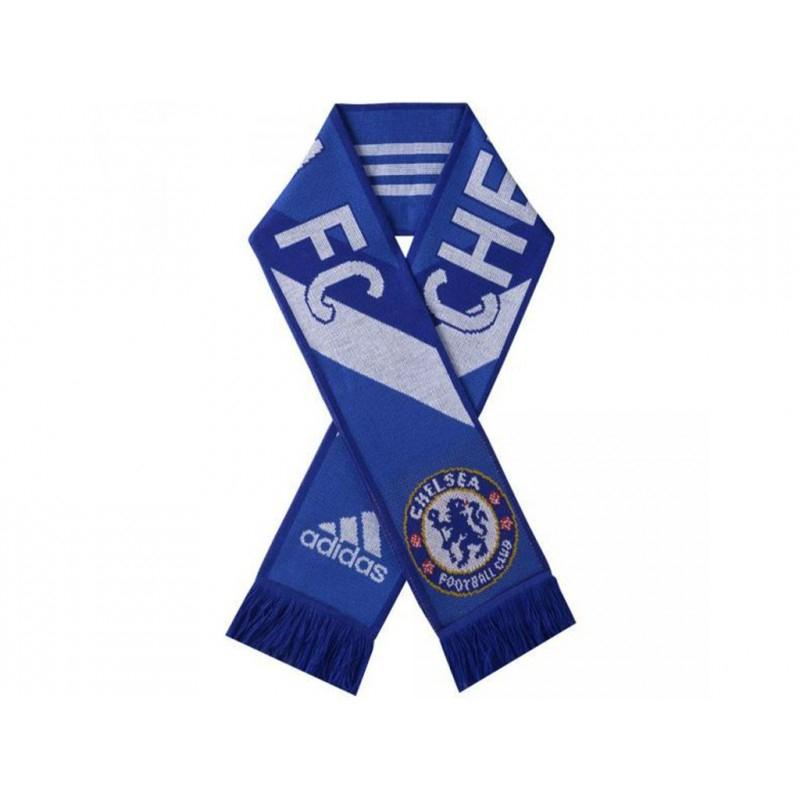 Cfc 3S Scarf Blu - Echarpe Chelsea Football Adidas - Football tout Embleme Chelsea