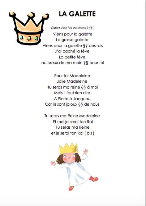 Chanson De La Galette Chez Kaloo - École Petite Section avec Chanson De La Petite Patate