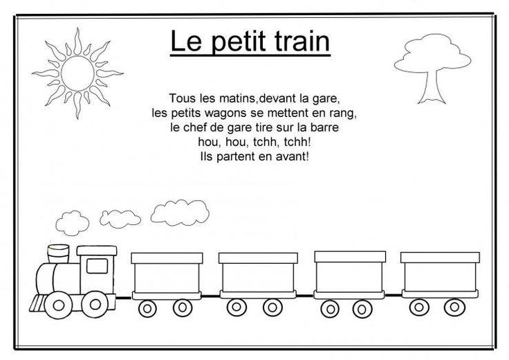Chanson Le Petit Train | Comptines, Chansons Comptines destiné Chanson De La Petite Patate