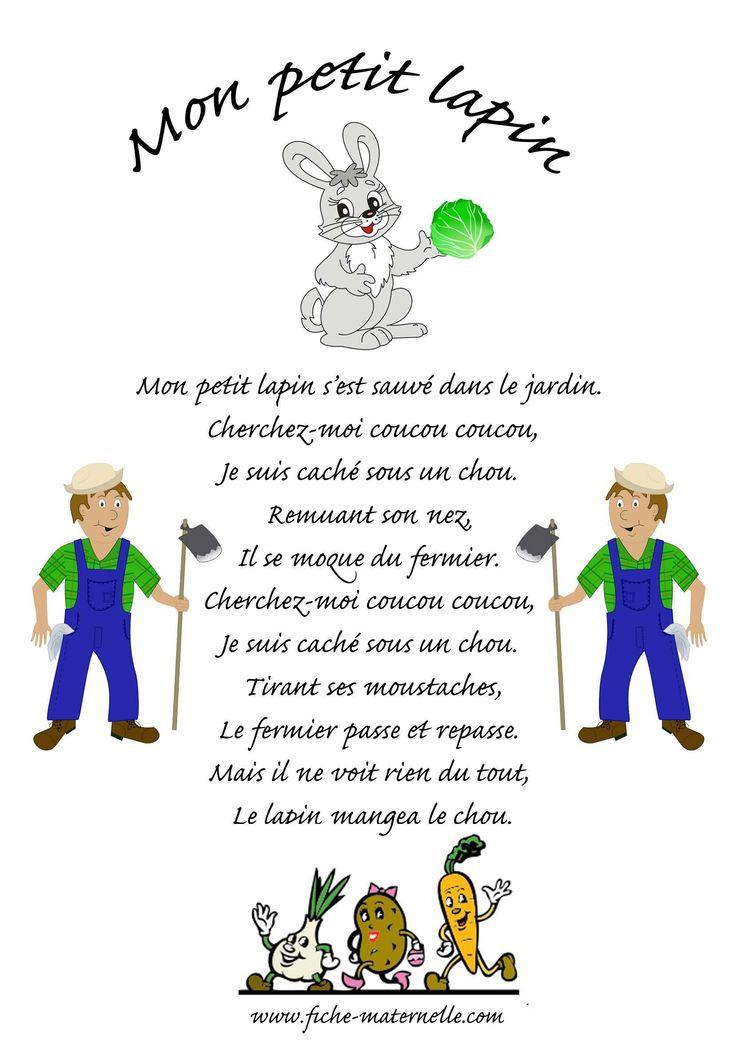 Chanson Mon Petit Lapin | Comptine Animaux à Contine Mon Petit Lapin