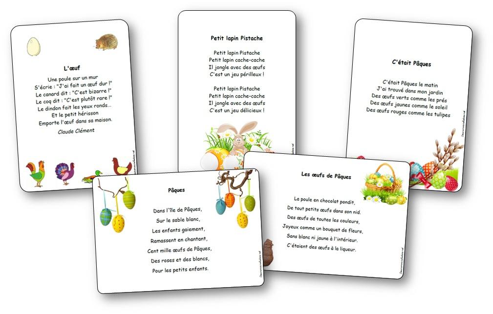 Chansons, Comptines Et Poésies De Pâques Illustrée À Imprimer à Comptines Gratuites