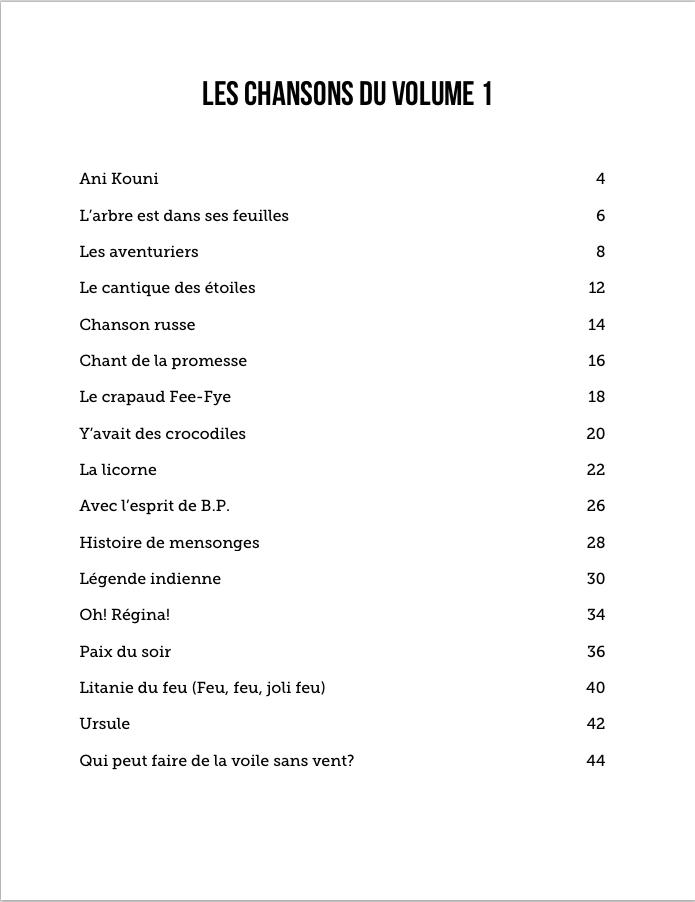 Chansons De Bivouac - Volume 1 - Paroles Accords Et Musique serapportantà Y Avait Des Gros Crocodiles Paroles