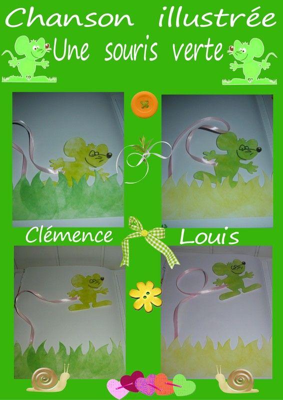 Chansons Illustrees - Page 3 pour Une Souri Vert