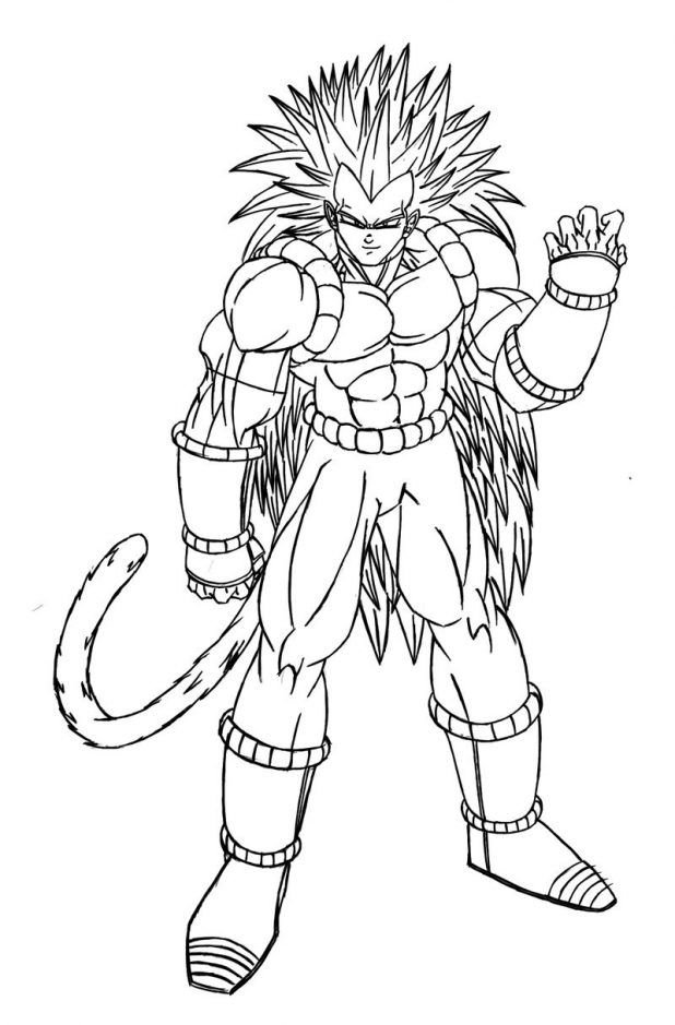 Character Inspired - Dragon Ball Z Kids Coloring Pages serapportantà Coloriage Vegeta A Imprimer